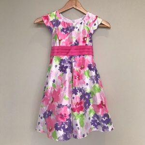 Jona Michelle Floral Pink and Purple Dress